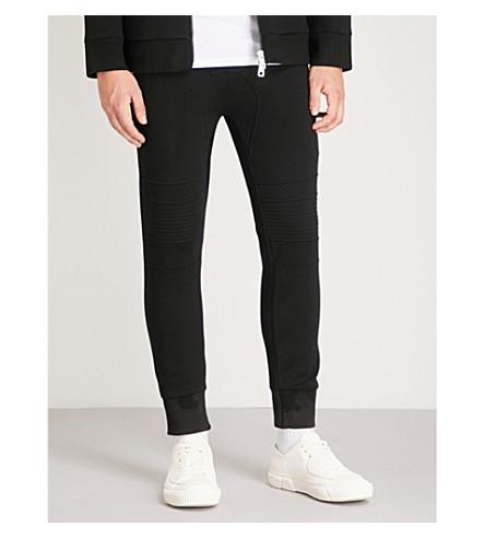 NEIL BARRETT Ring-embellished slim-fit jersey jogging bottoms (Black