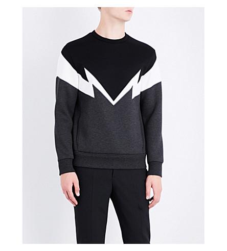 NEIL BARRETT T.Bolt crewneck jersey sweatshirt (Choffblk