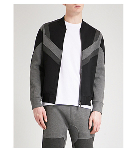 NEIL BARRETT Modist neoprene bomber jacket (Black