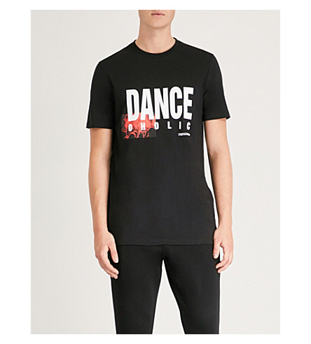 NEIL BARRETT Danceoholic-print cotton-jersey T-shirt (Black