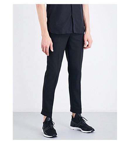 NEIL BARRETT Zipper-detail regular-fit mid-rise gabardine pants (Black