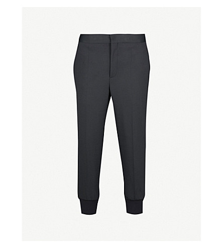 NEIL BARRETT Woven jogging bottom trousers (Black