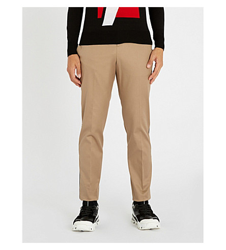NEIL BARRETT Side-striped stretch-cotton pants