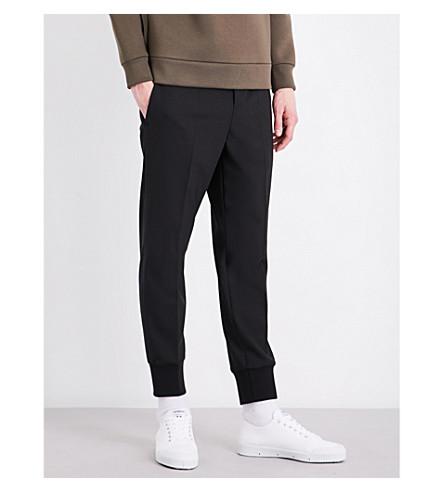 NEIL BARRETT Slim-fit woven pants (Black