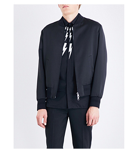 NEIL BARRETT Ali satin bomber jacket (Black