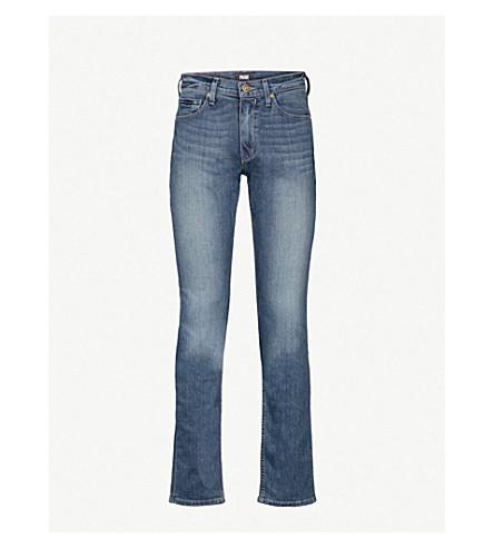 PAIGE布里格斯修身版型紧身牛仔裤 (暗 + 蓝