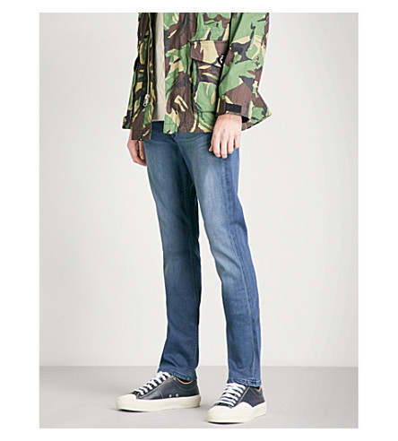 PAIGE Lennox skyler slim-fit skinny jeans (Light+blue