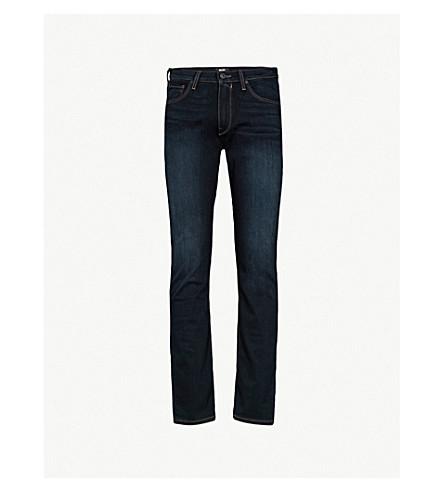 PAIGE Lennox Rafter slim-fit skinny jeans (Dark+blue