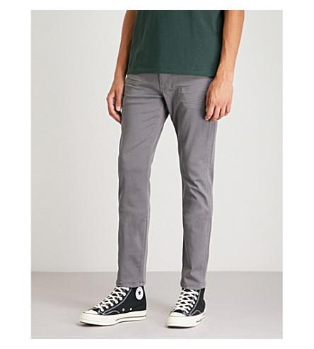 PAIGE Lennox vintage slim-fit tapered jeans (Grey+fog