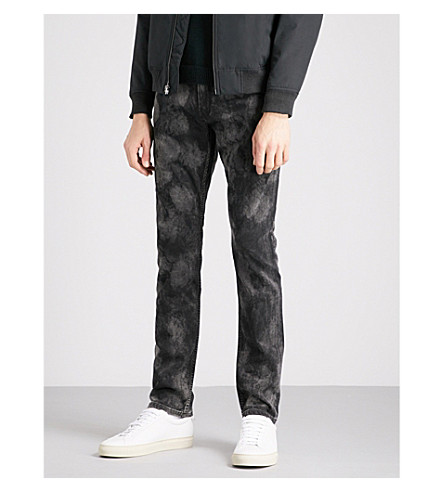 PAIGE Lennox skinny jeans (Washed+black