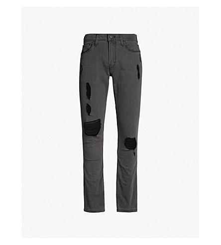 PAIGE Lennox slim-fit ripped skinny jeans (Grey sky