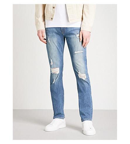 PAIGE Lennox Steele slim-fit skinny jeans (Mid+blue