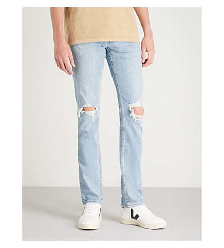 PAIGE Lennox slim-fit skinny jeans (County+destructed
