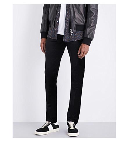 PAIGE Lennox skinny-fit velvet jeans (Black