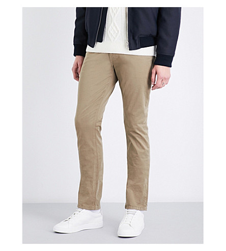 PAIGE Federal slim-fit tapered jeans (Light sable