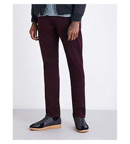 PAIGE DENIM Federal regular-fit straight jeans (Dark+bordeaux