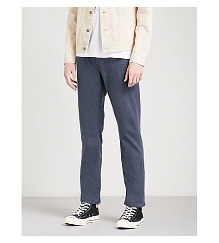 PAIGE Federal mid-rise skinny jeans (Deep+sea