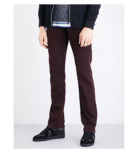 PAIGE Federal slim-fit tapered jeans (Garnet