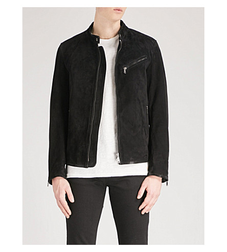7 FOR ALL MANKIND Biker suede jacket (Black