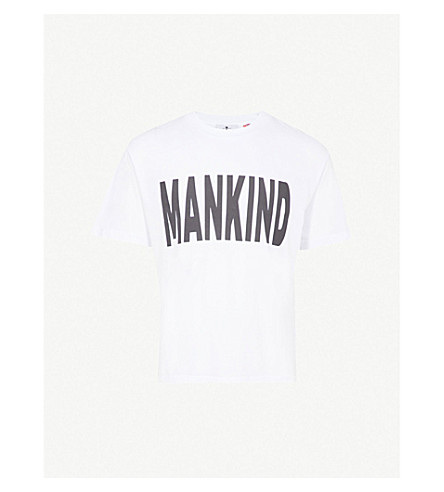 7 FOR ALL MANKIND Logo-print cotton-jersey T-shirt (Bright+white