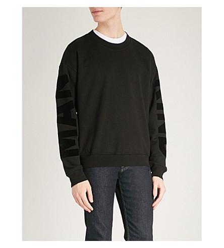 7 FOR ALL MANKIND Logo-detail cotton-jersey sweatshirt (Meteorite