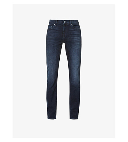 7 FOR ALL MANKIND Ronnie Luxe slim-fit skinny jeans (Dark+blue
