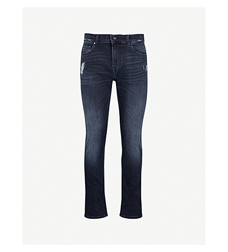 7 FOR ALL MANKIND Ronnie Luxe Performance skinny jeans (Dark+blue
