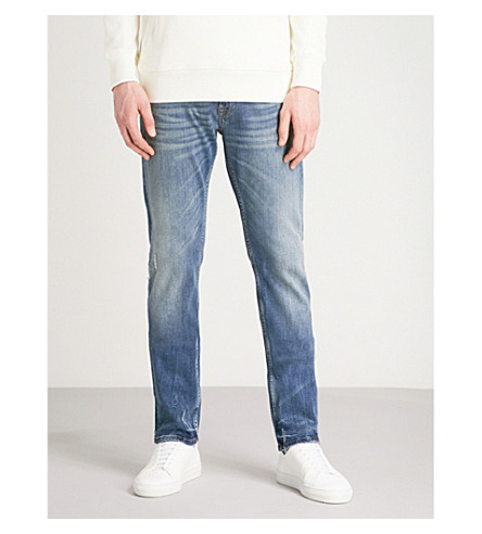 7 FOR ALL MANKIND Ronnie slim-fit skinny luxe-performance jeans (Light+blue
