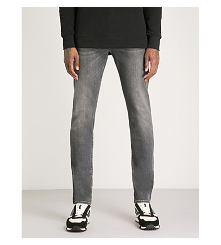 7 FOR ALL MANKIND Ronnie luxe performance slim-fit skinny jeans (Grey