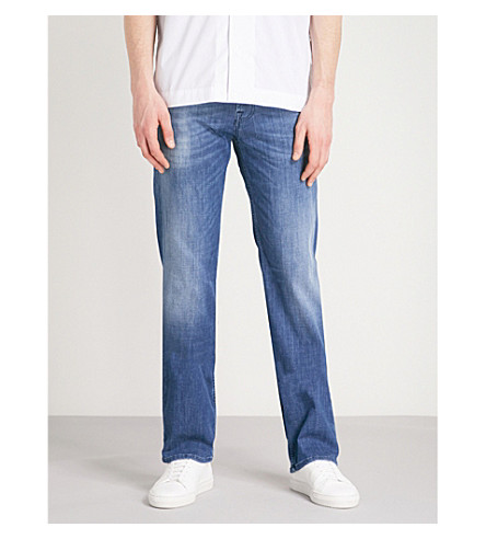 7 FOR ALL MANKIND Standard Weightless regular-fit jeans (Mid+blue