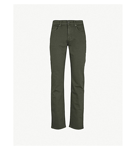 7 FOR ALL MANKIND Slimmy Luxe Performance slim-fit jeans (Khaki