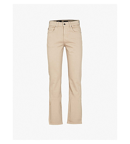 7 FOR ALL MANKIND Slimmy Luxe Performance slim-fit tapered jeans (Stone