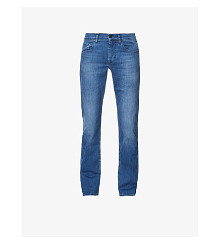 7 FOR ALL MANKIND Slimmy Luxe Performance slim-fit tapered jeans (Mid blue