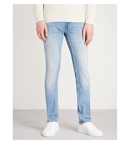 7 FOR ALL MANKIND Slimmy Luxe Performance skinny jeans (Pearl+light+blue