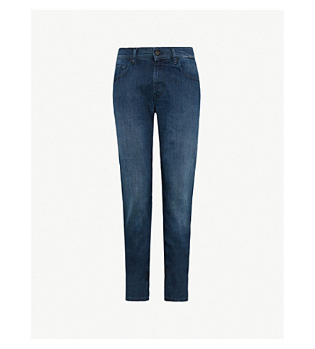 7 FOR ALL MANKIND Slimmy slim-fit tapered jeans (Plus dark blue