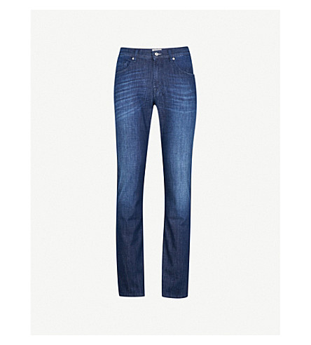 7 FOR ALL MANKIND Slimmy Weightless slim-fit tapered jeans (Dark blue