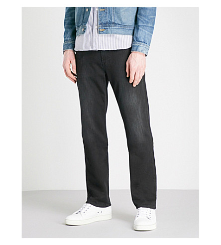 7 FOR ALL MANKIND Slimmy Weightless slim-fit tapered jeans (Washed+black