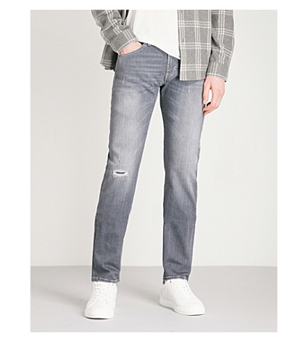 7 FOR ALL MANKIND Kayden relaxed-fit straight-leg jeans (Mid+grey