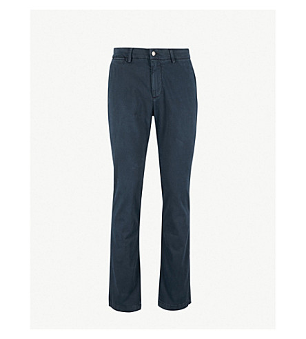 7 FOR ALL MANKIND Slimmy Chino slim-fit cotton-blend chinos (Ink blue