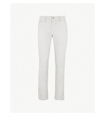 7 FOR ALL MANKIND Extra-slim stretch-cotton chinos (Cloud+grey