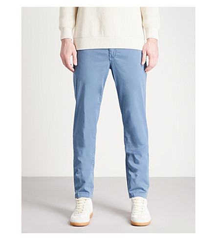 7 FOR ALL MANKIND Extra-slim stretch-cotton chinos (Sky+blue