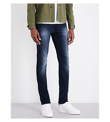 7 FOR ALL MANKIND Ronnie slim-fit skinny jeans (Powerful+deep+blue