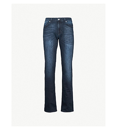 7 FOR ALL MANKIND Standard Luxe Performance regular-fit jeans (Dark blue