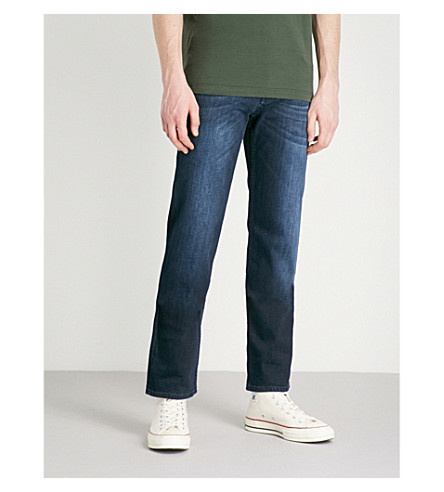 7 FOR ALL MANKIND Standard Luxe Performance regular-fit jeans (Dark+blue