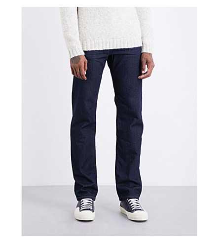 7 FOR ALL MANKIND Standard Cashmere regular-fit straight jeans (Clean blue