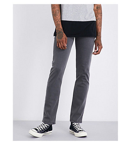 7 FOR ALL MANKIND Slimmy Luxe Performance slim-fit tapered jeans (Grey