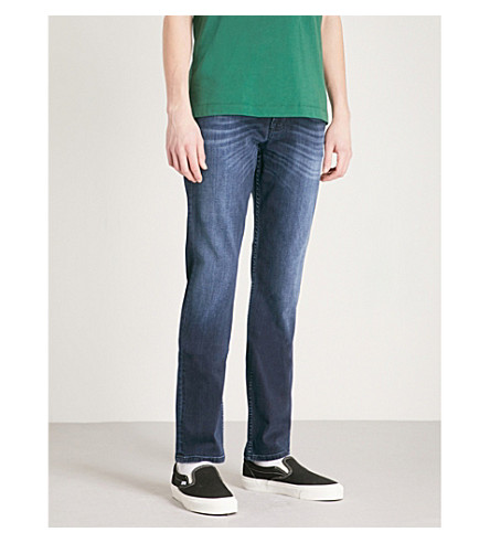 7 FOR ALL MANKIND Slimmy Luxe Performance slim-fit jeans (Dark+rinse