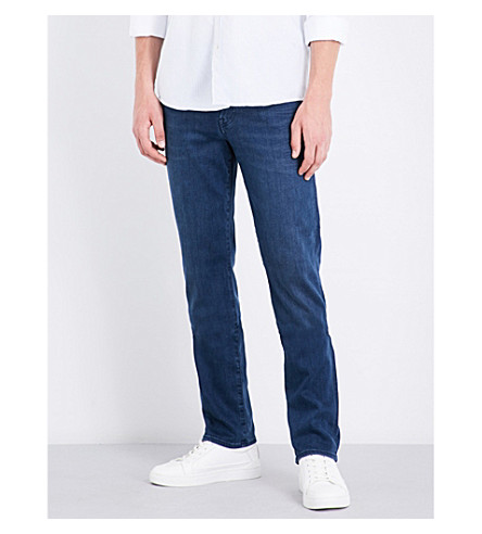 7 FOR ALL MANKIND Slimmy luxe performance slim-fit skinny jeans (Plus dark blue