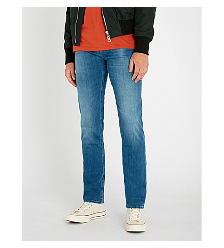 7 FOR ALL MANKIND Kayden Luxe Performance slim-fit straight jeans (Mid blue