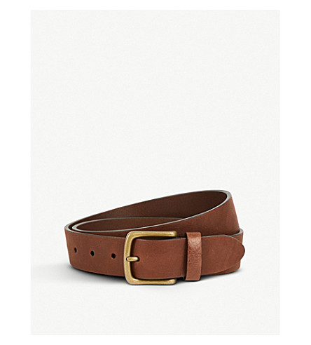ANDERSONS Classic leather belt (Brown
